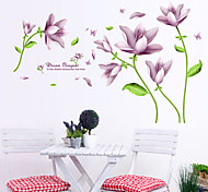 Purple Fantasy Flower wall stickers