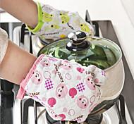 Перчатка микроволновая печь BBQ хлопок выпечки горшок митенки приготовление термостойкую кухня