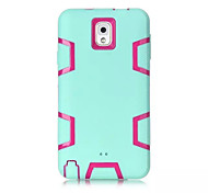 Silicone & Plastic 3 In 1 Armor Hybrid Protection Back Case For Samsung Galaxy Note 3 Cell Phone Cover