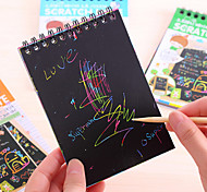 1PC Creative Hand-Painted Diy Graffiti Magic Fun Paint Color Painting Notebook