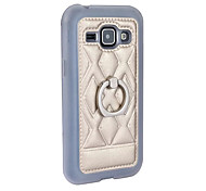New Leather Case for Samsung Galaxy J1 J100 Phone Ring Stand Holder 360 Rotation Back Protective Shell Luxury TPU Cover