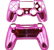 Replacement Controller Case for PS4 Controller PS4 Case Plating(Pink/Red/Purple)