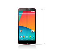 película protectora de alta calidad pantalla de vidrio templado para LG Nexus 5