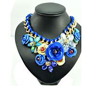 Rosado / Azul Collar Fiesta / Diario 1 pieza Joyas