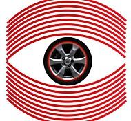 6mm accessori ampia auto universale è felgenrandaufkleber adesivo rosso