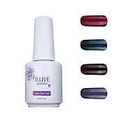 ILuve Gel Nail Polish Set - Pack Of 4 - Long Lasting 3 Weeks Soak Off UV Led Gel Varnish – For Nail Art #4022