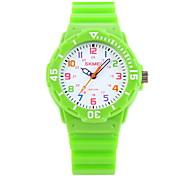 SKMEI Дети Модные часы Наручные часы Повседневные часы Кварцевый Японский кварц Pезина Группа КонфетыЧерный Синий Оранжевый Зеленый