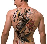 tatuaggio temporaneo (terzino) - koi (2 pezzi)