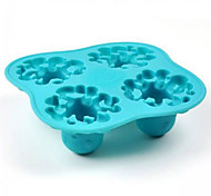 Silicone Ice Cubes Cartoon Octopus Pattern Ice Mould  Tray Pudding Jelly Mold (Random Color)