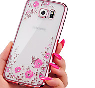 Electroplating Secret Garden Flower Diamond Phone Cases For Samsung Galaxy J3/J5/J7
