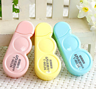 2PCS  6 M Ultrathin Membrane Correction Tape Creative Stationery Tape/Student Stationery(Style random)
