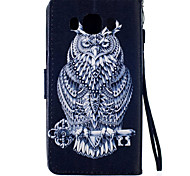 Black Owl Pattern PU Leather Material Phone Case for Samsung Galaxy J5/J510/G360/G530