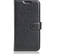 For Meizu Case Card Holder / with Stand / Flip Case Full Body Case Solid Color Hard PU Leather Meizu