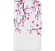 Plum Flower Pattern Embossed PU Leather Case for Sony Xperia Z5/ Xperia Z5 Compact