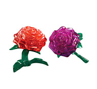 3D Crystal Rose (Can) Blocks Puzzle Diy Puzzle Creative Small Children Toys