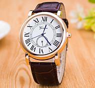 Men's Big Blue Tie Pin Dial Classic Hit Roman Numerals Quartz Watch