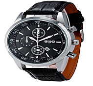 WYQ®Men Fashion Round Dial Alloy Analog Wristwatch with Artificial Leather Strap Assorted Colors