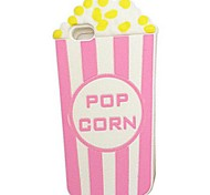 3D Cartoon Popcorn Full Wrapping Soft Shell of Silica Gel for iPhone 5/5S(Assorted Colors)
