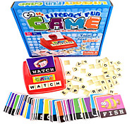 Look At The Picture Red And Blue In Learning English Literacy Cards Platter Board Games