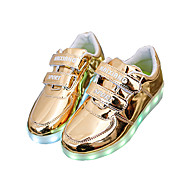 Women's / Boy's / Girl's Summer Sandals / Round Toe Leatherette Outdoor / Casual / Athletic Flat Heel LED / Magic Tape Silver / Gold