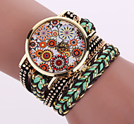 Lady's  Quartz Analog White Case Weave Leather Band Bracelet Wrist Fashion Watch Jewelry Cool Watches Unique Watches