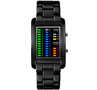Skmei®Men's Fashion Alloy LED Multifunction Wrist Watch 30m Waterproof Assorted Colors