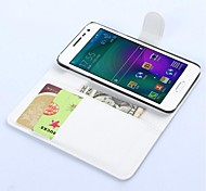 For Samsung Galaxy Case Card Holder / with Stand / Flip / Magnetic Case Full Body Case Solid Color PU Leather Samsung A3
