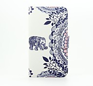 For Wiko Case with Stand / Flip / Pattern Case Full Body Case Elephant Hard PU Leather Wiko