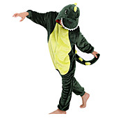 Cute Green Dinosaur Kids Kigurumi Pajamas Sleepwear