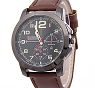 Men's Casual Business Leather Strap Watch Wrist Watch Cool Watch Unique Watch Fashion Watch
