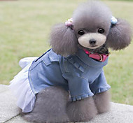 High Quality Denim Lace Pet Dress