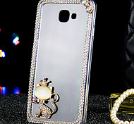 For Samsung Galaxy Case Rhinestone / Transparent Case Back Cover Case Cat Acrylic Samsung A9