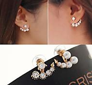 1 Pair Pearl Asymmetric Stud Earrings Jewelry