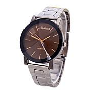 Masculino Relógio de Moda Quartz Relógio Casual PU Banda Relógio de Pulso Prata