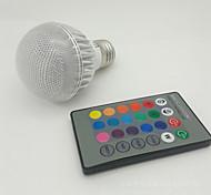 Bombillas LED Inteligentes Control Remoto NO A60(A19) E26/E27 3W 1 LED de Alta Potencia 100-300 lm RGB AC 85-265 V 1 pieza