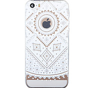 """Retro Flower Painted Pattern Soft Transparent TPU Back Case For Iphone5/5S 4.0"""""""