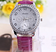 Women's Fashionable Leisure  Three Six-pin Belt Watches Leather Band Cool Watches Unique Watches