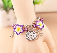 Women's The Flowers Are Soft Clay Quartz Bracelet Watch(Assorted Colors)