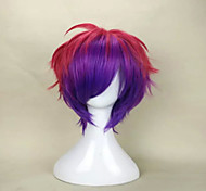 Capless Fashion Mix Color Short Curly  Party Wig Top Quality  Synthetic Hair Wigs Man's Cosplay Wig