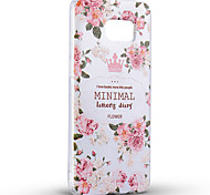 Pour Coque Meizu Motif Coque Coque Arrière Coque Fleur Flexible Silicone Meizu