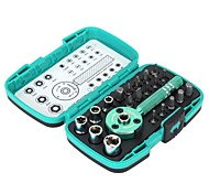 "Pro'sKit® 22pcs Multi-functional Palm Ratchet Wrench Bit 1/4"" Driver Socket Set Screwdriver Kit Repair Tool"