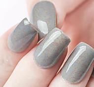 Ekbas Environmentally Safe Sugar Gum Gray 16ML Glitters Nail Polish