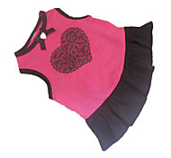 Dog Dress Rose Dog Clothes Summer Hearts