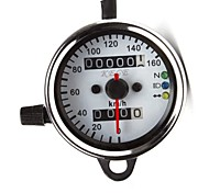 12V Universal Motorcycle Dual Odometer Speed Meter Gauge LED Backlight Signal