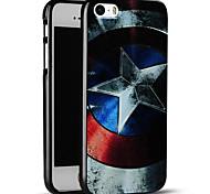 caso do Capitão América escudo macio capa protetora iphone para iphone SE / iphone 5s / 5