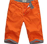 Lesmart Men's Shorts / Straight Pants Orange - MDKS1201