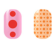 Red/Orange Spots Hollow Nail Stickers