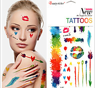 Temporary Colorful Graffiti tattoo stickersCreative ink Patterns Waterproof Flash Tattoos Body Art TaTy