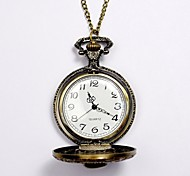 Unisex Pocket Watch Korean Version Of The Retro Skull Quartz Pocket Watch Large Bronze Clamshell Cool Watches Unique Watches