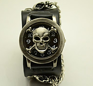 Unisex Fashion Watch The New Hip-Hop Personality Skull Antique Bronze Flip Hip Belt Quartz Watch(Assorted Colors) Cool Watches Unique Watches